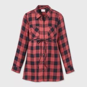 🍂3/$30 Isabel maternity flannel top